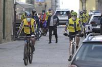 O vicepresidente 1º da Xunta, percorrendo o Camiño portugués en bicicleta.