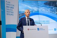 O vicepresidente 1º da Xunta, na presentación do Plan Galicia, destino  seguro.