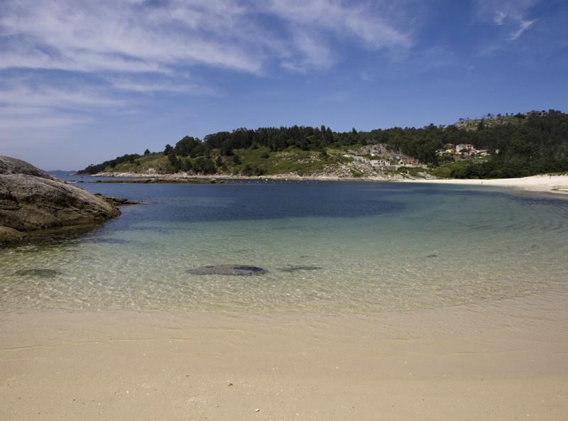 Playa de Liméns, en Cangas