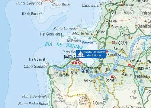 baiona mapa INSTAL. NÁUTICO DEPORTIVAS. MARÍTIMA PUERTO DEPORTIVO DE BAIONA EN  baiona mapa