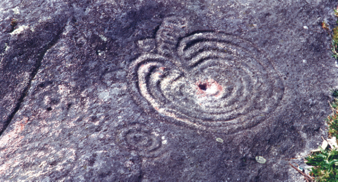 Petroglifo Mogor en Marín