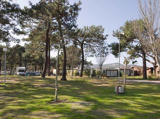 Camping Bayona Playa En Baiona Pontevedra Galicia