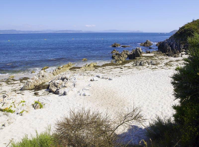 Playa de Melide, en Ons