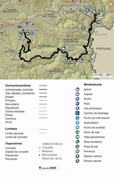Mapa do percurso